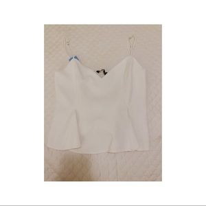 Zara white pleated top